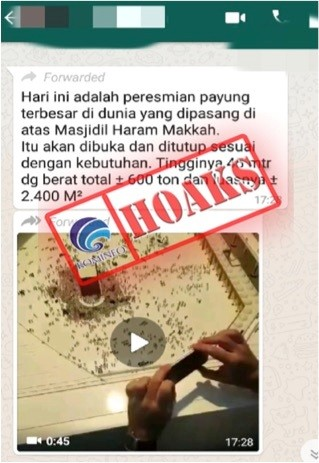 Video Penampakan Peresmian Payung Raksasa Menutupi Masjidil Haram