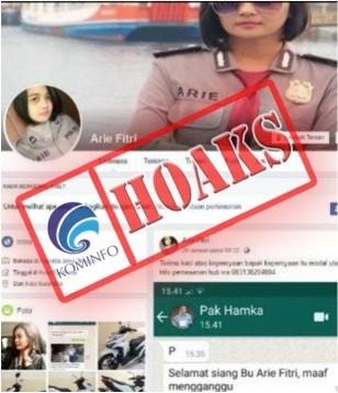 Akun Facebook Mengatasnamakan Briptu Arie Fitri Melakukan Penjualan Sepeda Motor