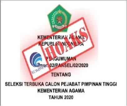 Surat Pengumuman Lelang Jabatan di Kementerian Agama