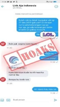 Penipuan Mengatasnamakan LinkAja Indonesia