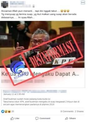 Megawati Menyuap Ketua KPU Arief Budiman 2 Triliun