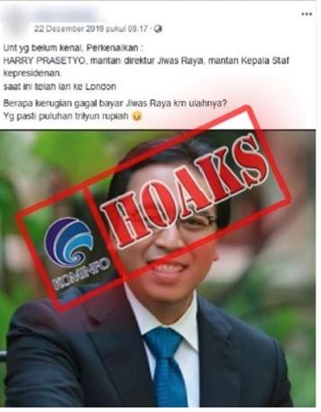 Mantan Direktur Keuangan Jiwasraya Hary Prasetyo Kabur ke London