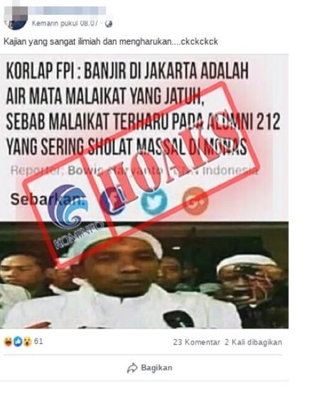 CNN Indonesia  Banjir di Jakarta adalah Air Mata Malaikat yang Terharu pada Alumni 212