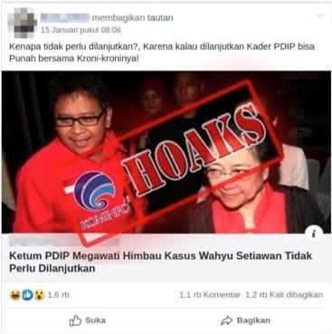 Megawati Imbau Kasus Wahyu Setiawan Tidak Perlu Dilanjutkan