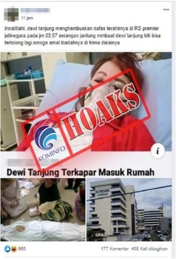 Kader PDIP Dewi Tanjung Meninggal Dunia