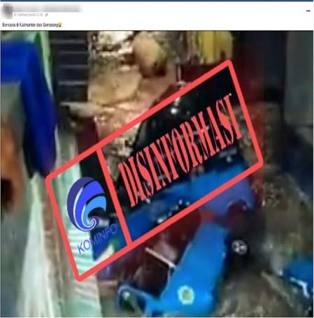 [DISINFORMASI] Video Bajaj Hanyut Terbawa Arus Banjir di Semarang
