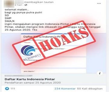 Hoaks Formulir Online Pendaftaran Kartu Indonesia Pintar
