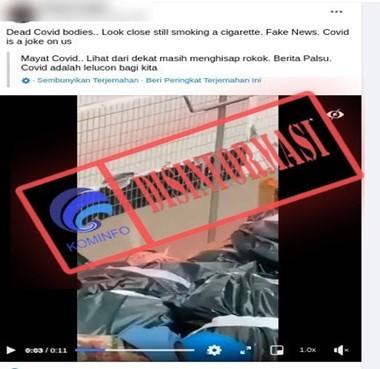 [DISINFORMASI] Video Tumpukan Mayat Korban Covid-19
