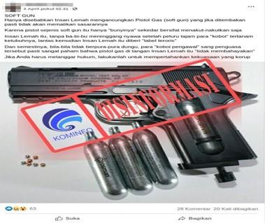 [DISINFORMASI] Senjata Airgun Milik ZA Tidak Mematikan dan Tidak Berbahaya