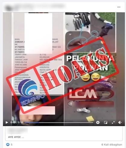 [HOAKS] Pelaku Penyerangan di Mabes Polri adalah Polisi Wanita