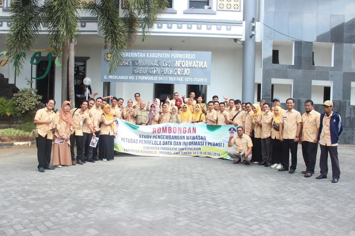 Terkait Statistik Sektoral, Dinkominfo Purworejo Terima Kunjungan dari Sulawesi Selatan